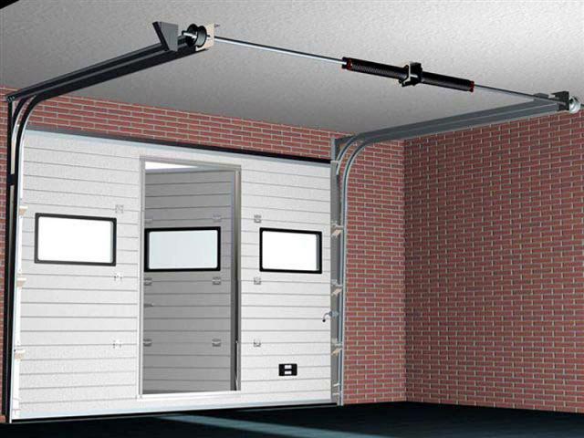 ворота гаражные автоматические секционные цены